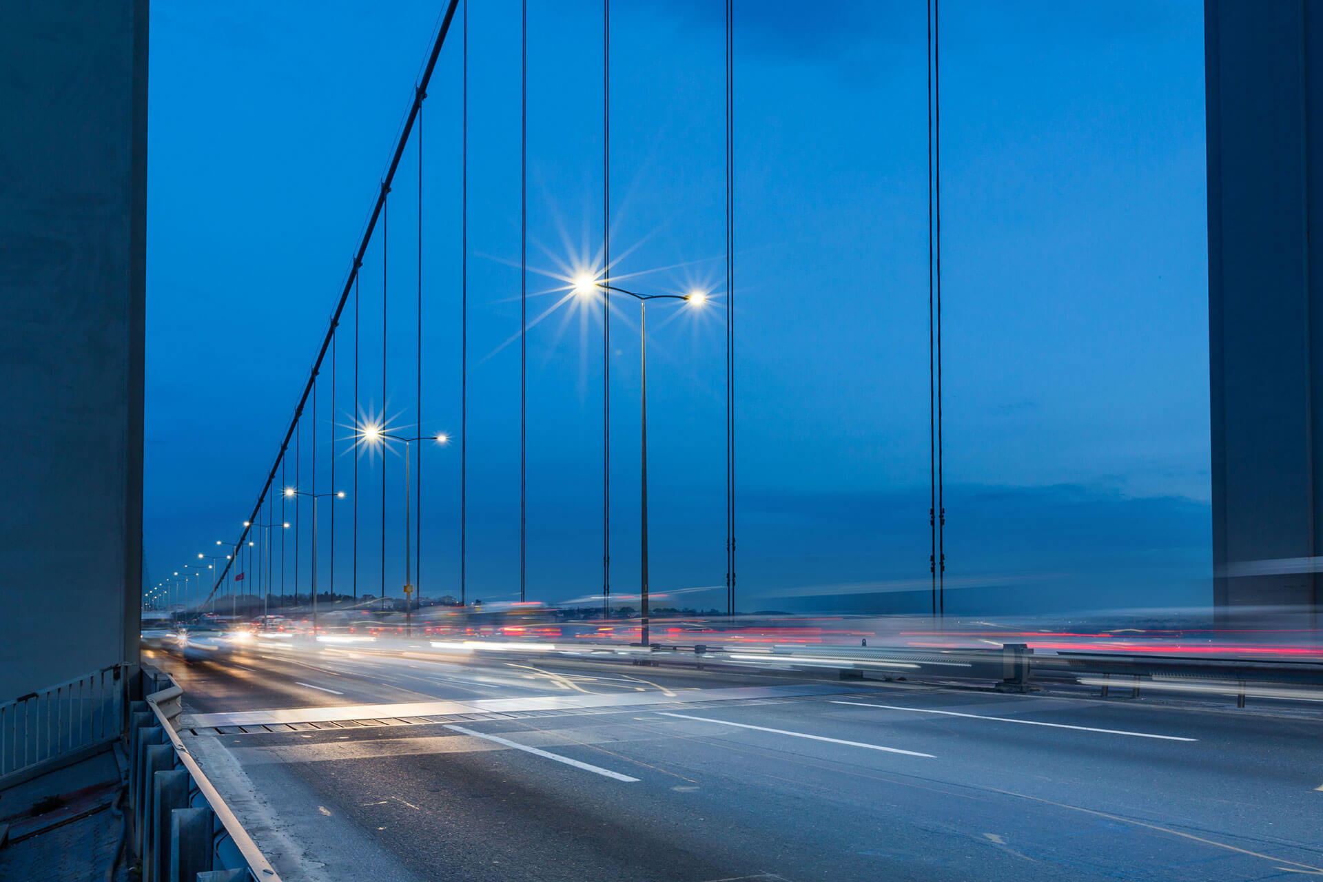 240 Teceo luminaires light Fatih Sultan Mehmet Bridge ensuring safety and cutting energy costs by 52%