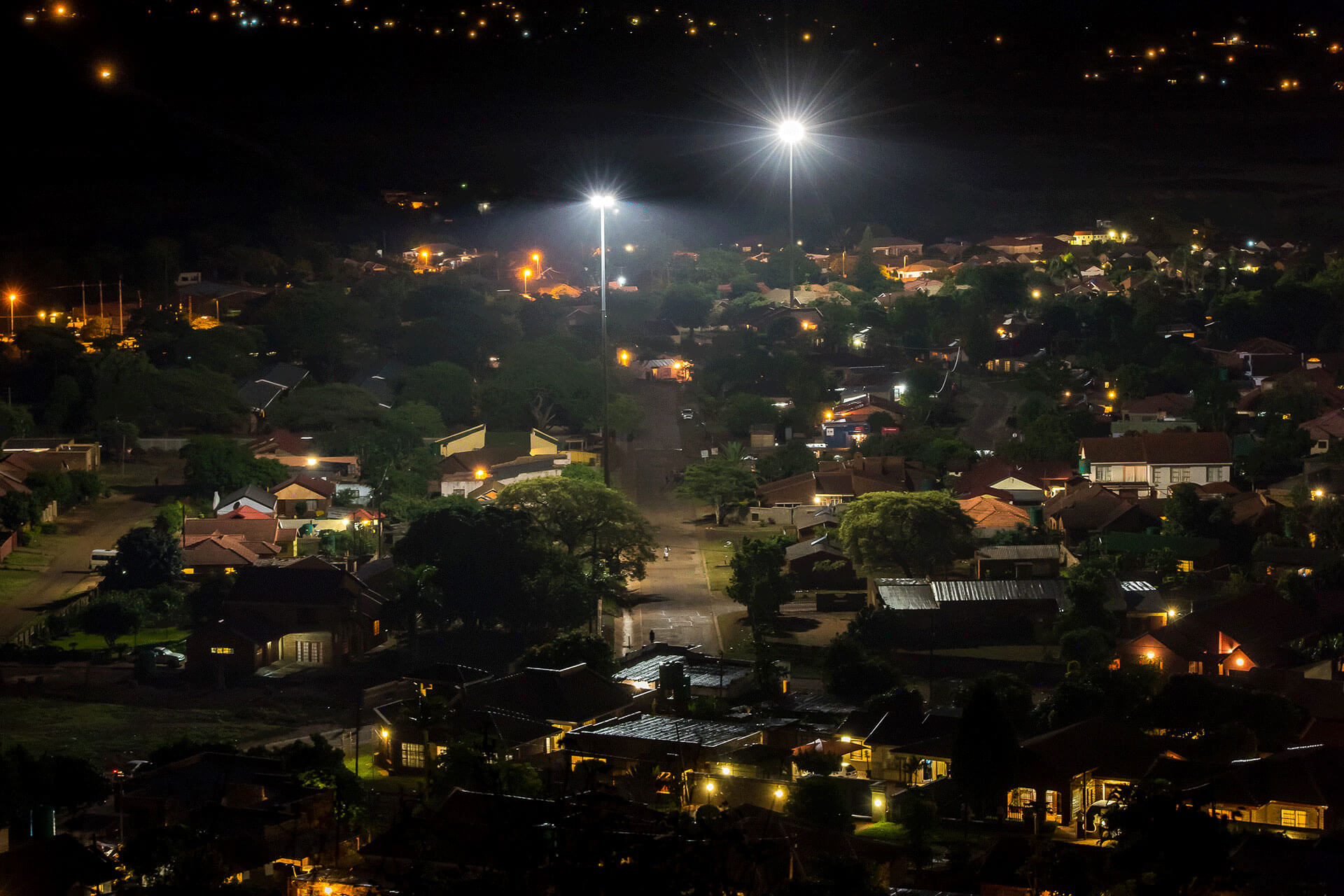 OMNIstar on 40m high masts reduces energy savings for Tzaneen