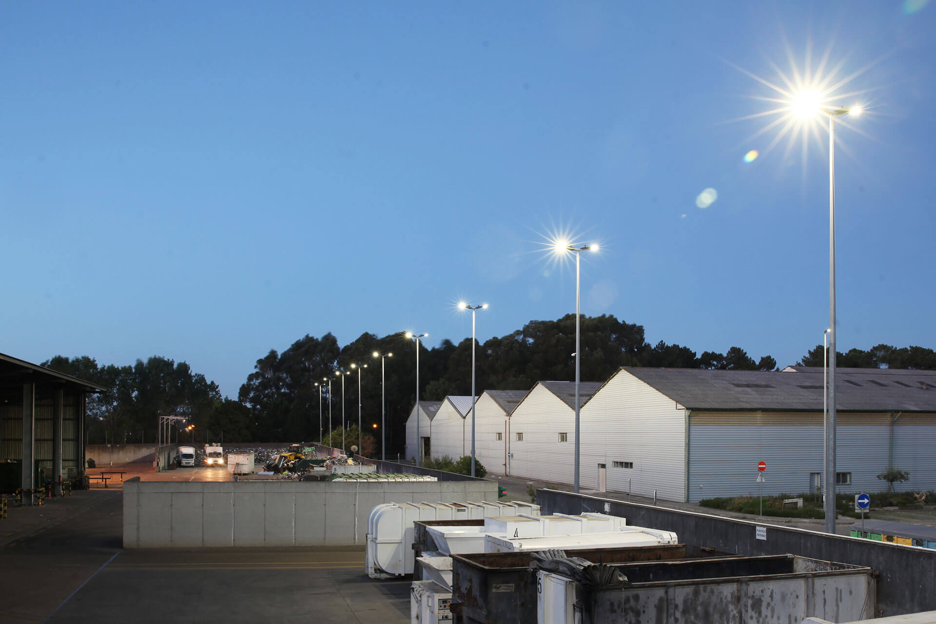 Voltana ensures a sustainable lighting solution for this waste treatment plant