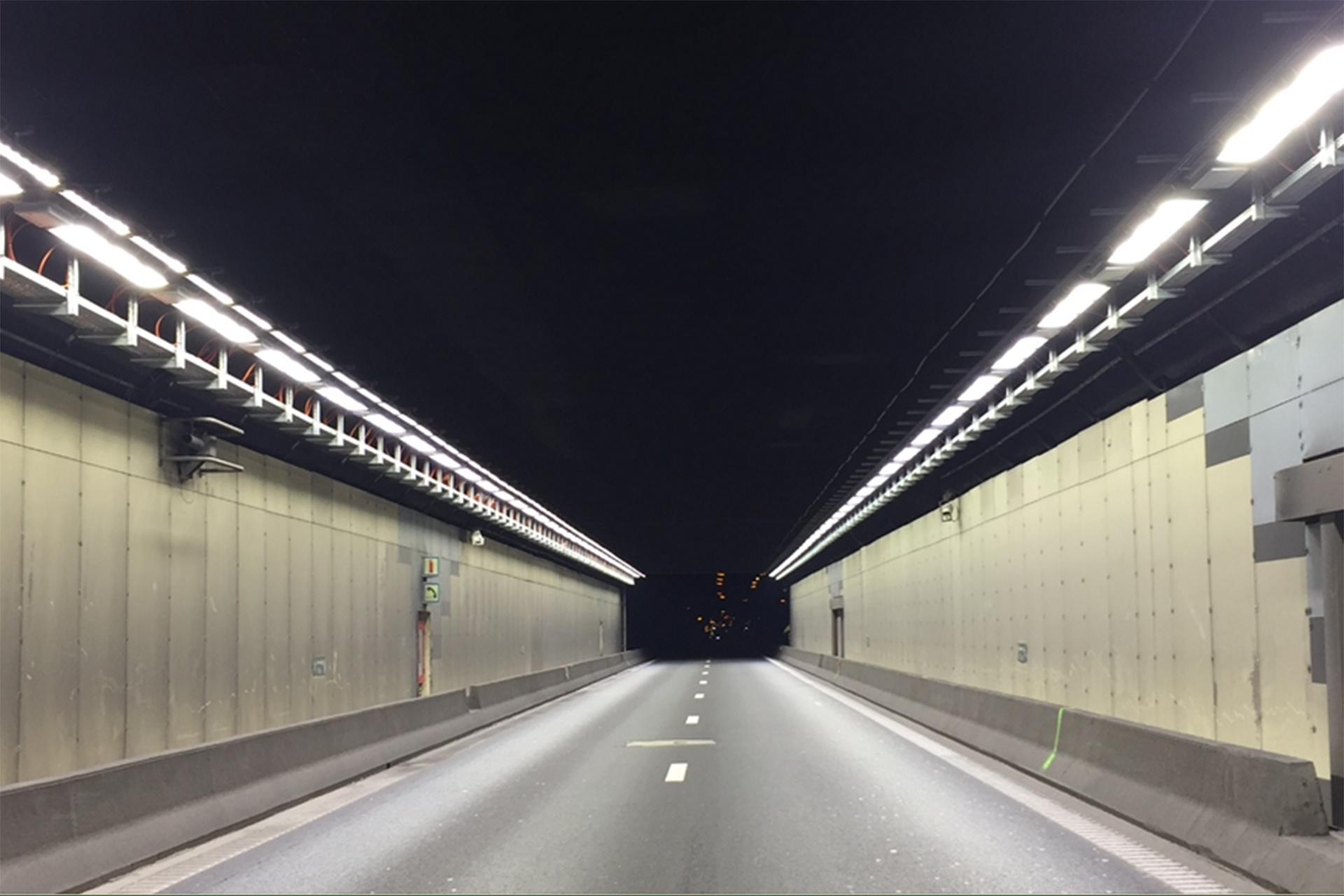 Schréder's tunnel lighting solution ensures safety and an optimal driving experience